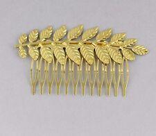 Gold shiny Laurel Leaf crown Leaves hair comb greek toga roman costume athena