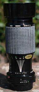 Sigma 70-210mm vintage zoom lens with case Minolta MD fit