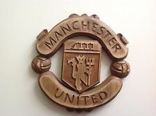 MANCHESTER UNITED Hand Crafted Wood Carving Emblem Coat of Arms Lime Linden Tree