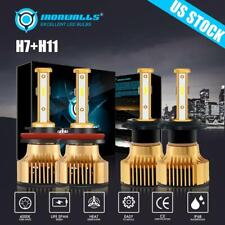 4 Sides H11 H7 Combo 5000W 750000LM LED Headlight High Low Beam Bulb 6000K Power