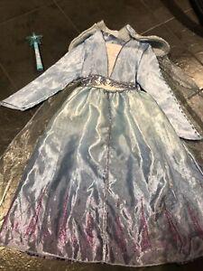 Disney Princess Frozen 2 Elsa Fancy Dress Up Costume Age 5-6 Years