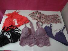 Victoria's Secret LOT OF 5 SEXY Unlined  Bralette BRA MULTI COLOR Lace NWT SMALL