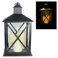 Christmas / Garden Hanging Lantern with 3 LED Battery Candles