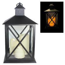 Natale/Giardino Lanterna da Appendere con 3 LED Batteria Candele