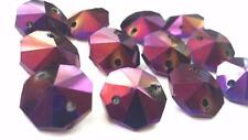 50 Golden Plum 14mm Octagon Chandelier Crystal Iridescent Purple Beads Prisms