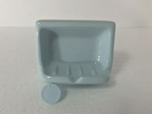 Powder Blue Ceramic Soap Dish Tray Classic Color 464 Dresden Mid Century Modern