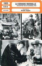 FICHE CINEMA USA La grande muraille / The bitter tea of general Yen Frank Capra