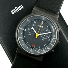 BRAUN AW60 CHRONOGRAPH 3806 Cal. ISA 815 Made In Germany Vintage Watch & Box