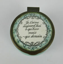 More details for bilston & battersea enamel box with french love quotation to lid