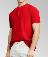 Polo Ralph Lauren Men's SZ XL Shirt 3 Button Henley Featherweight Mesh Red