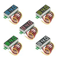 "5pcs 0.28"" LED Three-Line DC 0-100V Mini Digital Voltmeter Gauge Tester 5 Colors"