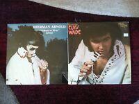 Elvis impersonator tribute artist OG vinyl LP lot - Sherman Arnold - Elvis Wade