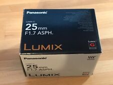 Panasonic Lumix G 25mm F1.7 HH025 MFT Lens - Black