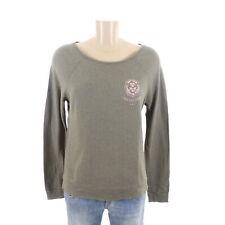 JUVIA Longsleeve Langarm Shirt Damen Print Khaki Löwe Gr. XS X-Small