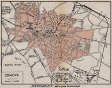 CRAIOVA vintage town/city plan. Romania 1938 old vintage map chart