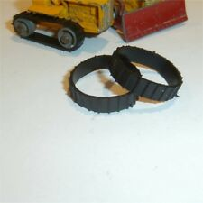 Matchbox Lesney  8 & 18 Caterpillar Bulldozer A/B Short Black Tracks Treads