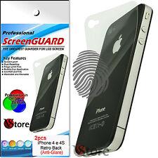 2 Pz Pellicola Retro Opaca Per Apple iPhone 4/4G/4S/G/S Antiriflesso Antimpronta