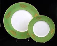J.L. Coquet IMPERIAL GREEN Dessert Plate + Buffet Plate SHOWROOM INVENTORY