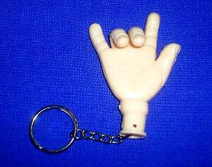Schlüsselanhänger bewegliche Finger Biegsame Hand Stinkefinger V-Zeichen