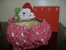 VINTAGE AVON HOLIDAY MOUSE BASKET