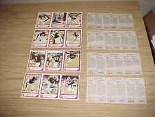1984 OTTAWA ROUGH RIDERS JOGO CFL MCDONALDS FOOTBALL CARD PANEL SET JC WATTS
