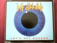 """DEF LEPPARD - JAPAN 4 TRACKS SINGLE """"LET'S GET ROCKED"""""""