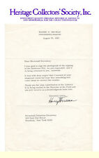33rd President of the United States Harry S. Truman signed letter