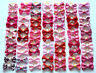 Shades of Pretty Pink and Red Dog & Puppy Hair Bands Top Knot Grooming Bows U.K
