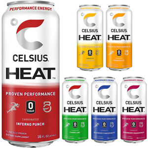 CELSIUS Heat Zero Sugar Fitness Energy Drink - 12-Pack