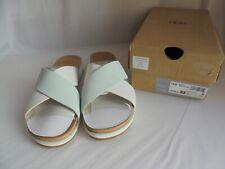 New UGG Women's Kari Sandals (UK 7) White with Aqua