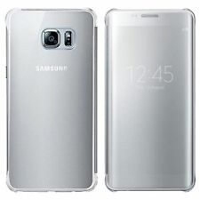 New Authentic Samsung Galaxy S6 Edge Plus S-View Flip Cover Case Clear / Silver