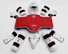 Taekwondo Equipment Wt Protection And Visierkopfschutz Complete Set Tkd New