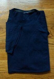 PATAGONIA Men LIGHTWEIGHT MERINO BASE LAYER Crew Short Sleeve Shirt Navy Blue M