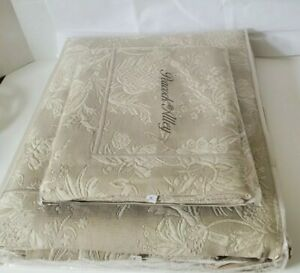 NWT Peacock Alley Alexandra floral Sage 2-PC Matelasse King Coverlet W/Sham