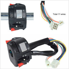 22mm Motorcycles Handlebar Control Switch w/11 Wiring Harness For Horn Fog Light