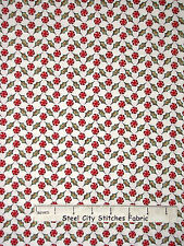 Christmas Fabric - Peppermint Candy & Holly Whimsy Red Rooster #25211 - Yard