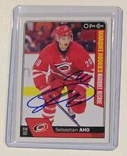 Sebastian Aho 2016-17 O-Pee-Chee Autographed Hockey Rookie Card Signed Auto