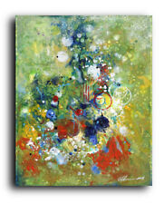 24x30 XL ORIGINAL PAINTING Acrylic Canvas Abstract Modern Contemporary Greens