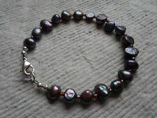 .Handcrafted  Bracelet ~ Fresh Water Pearls ~ Black