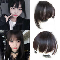Clip In 100% Human Hair Bangs Fringe With 2Clips Extensions Real Remy Virgin