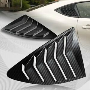 For 2013-2020 Scion FR-S/Subaru BRZ Carbon Style Window Louvers Scoop Covers