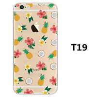 Rubber Pattern Soft TPU Silicone Back Case Cover for Apple iPhone SE 5 6 6S Plus
