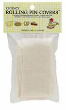 """Regency 15"""" Reusable Cloth Rolling Pin Covers 2pk - Prevents Sticking Dough"""