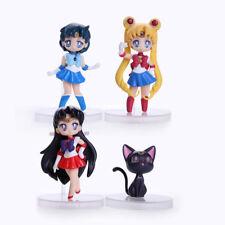 Sailor Moon Mars Mercury Luna Set 4pcs Series 1 Toy Figure New