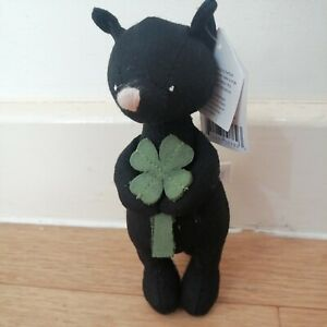 Jellycat Mini Messenger Cat Brand Plush Good Luck Clover New With Tags BNWT Gift