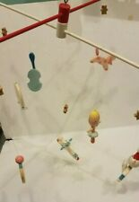 Vintage Mid Century Baby Nursery Crib Irmi Mobile Hand Painted Fairytale Rhyme