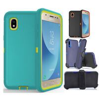 For Samsung Galaxy  A10e/A70 Rugged Hybrid Case+Belt Clip fits Otterbox Defender