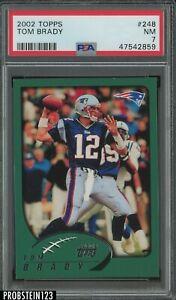 2002 Topps #248 Tom Brady New England Patriots PSA 7 NM