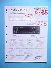 Service Manual Instructions For Kenwood KMD-71/KMD-870R ,ORIGINAL