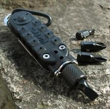 EDC Multi functional Climbing Carabiner Paracord Buckle Screwdriver Flashlight